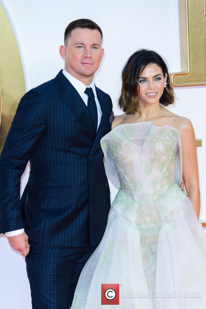 Channing Tatum and Jenna Dewan-Tatum at the 'Kingsman' premiere