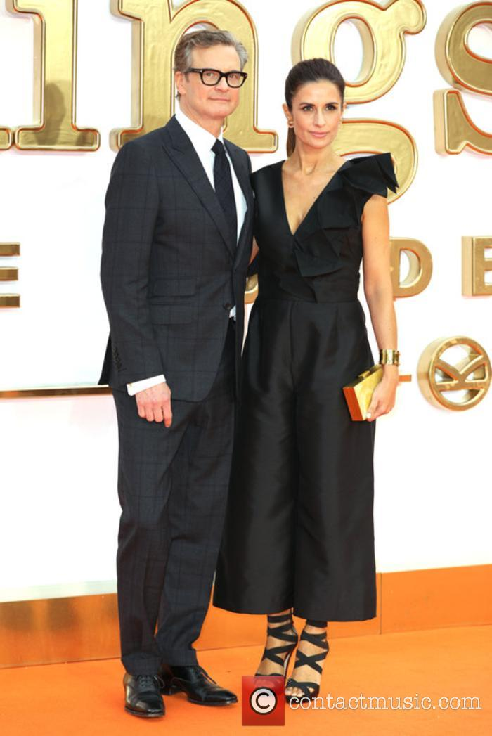 Colin Firth and his wife at the 'Kingsman: The Golden Circle' premiere