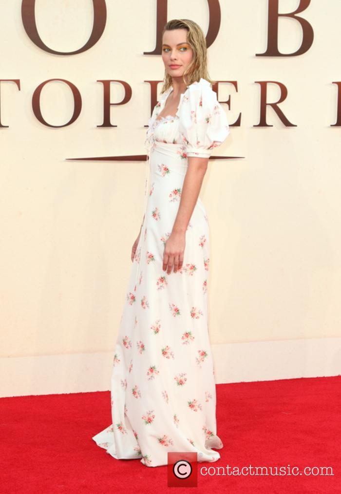 Margot Robbie at the world premiere of 'Goodbye Christopher Robin'