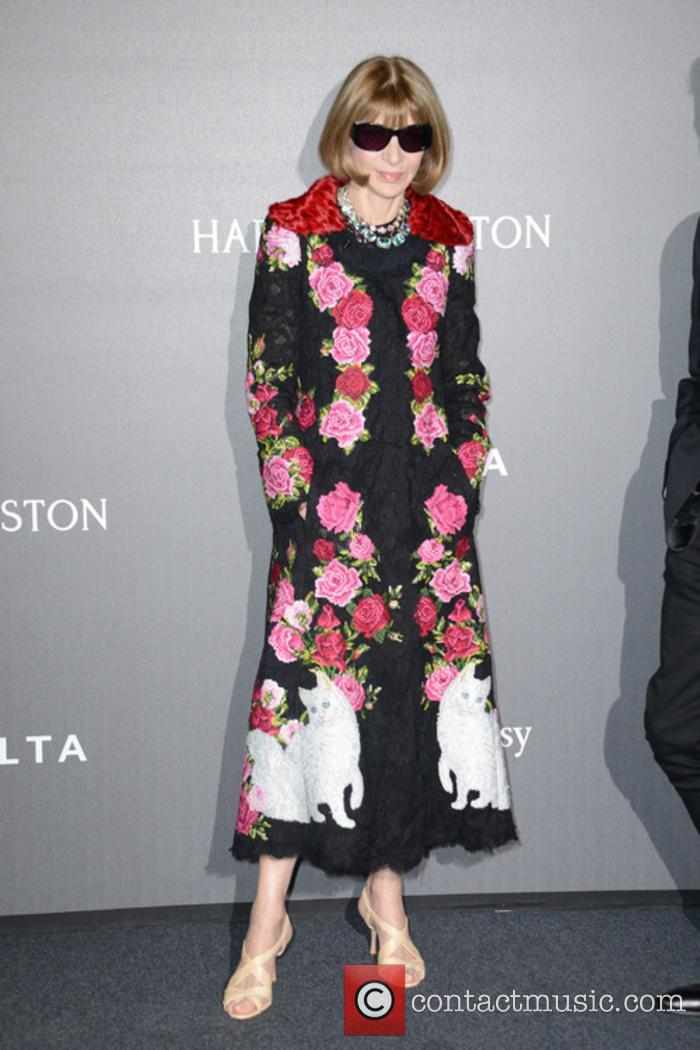 Anna Wintour at a Milan Fashion Week gala