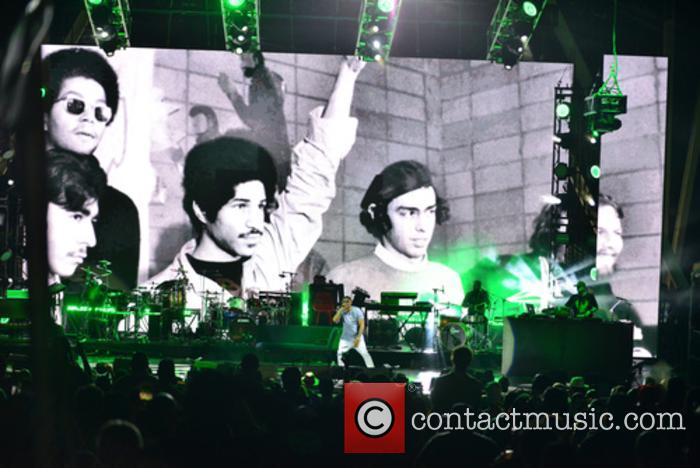 Ms Lauryn Hill and Nas perform on their...