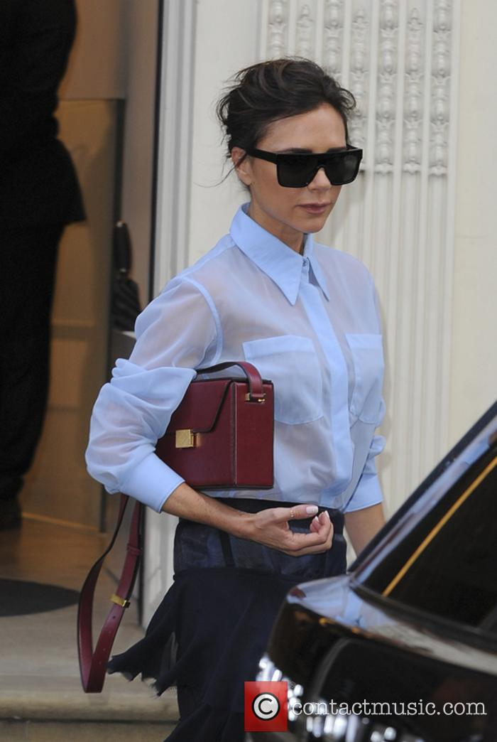 Victoria Beckham seen leaving her store