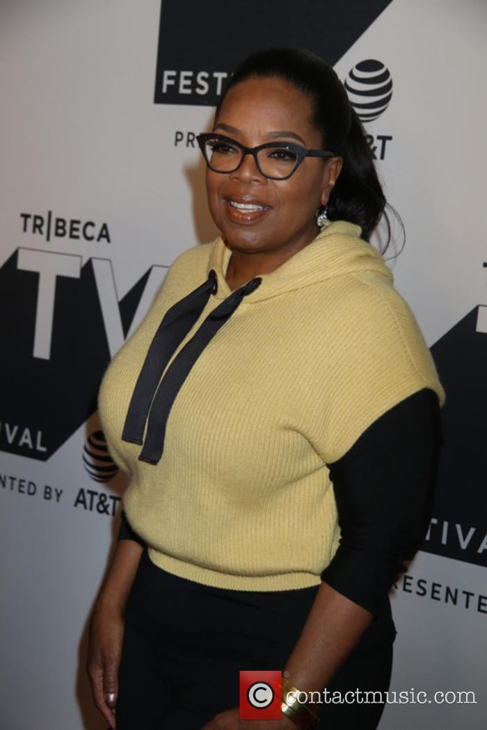 Oprah Winfrey at 'Released' premiere