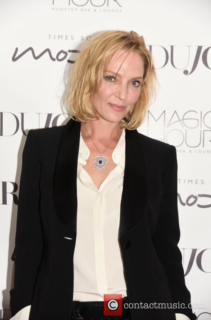 Uma Thurman at DuJour magazine party