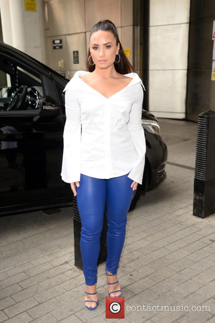 Demi Lovato arrives at BBC Radio 1 studios