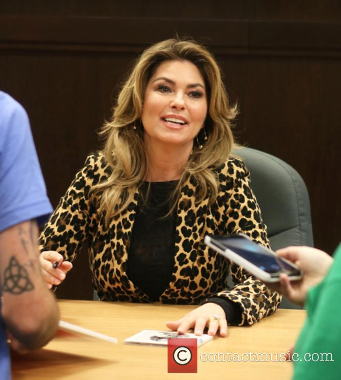 Shania Twain at her album signing