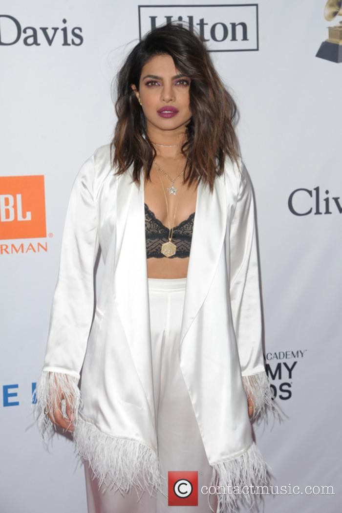 Priyanka Chopra at the Clive Davis pre-Grammy gala