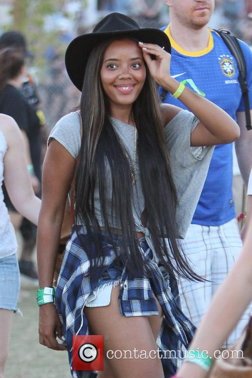 Angela Simmons Celebrities at the 2012 Coachella Valley...