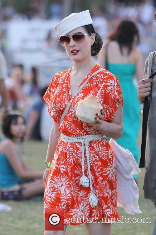 Dita Von Teese Celebrities at the 2011 Coachella...