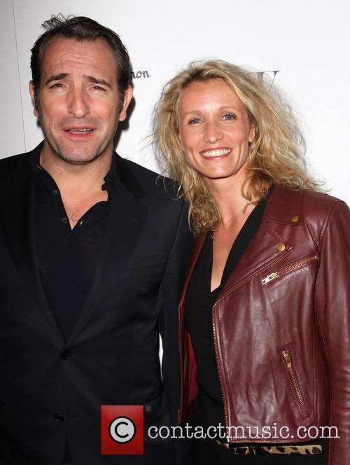 Jean Dujardin and his wife Alexandra Lamy W...