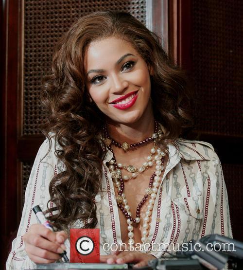 Singer Beyonce Knowles greets fans at the Hyundai...