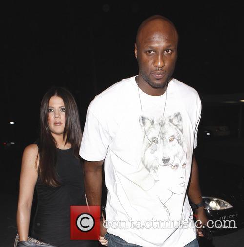 Khloe Kardashian and Lamar Odom outside Philippe restaurant...