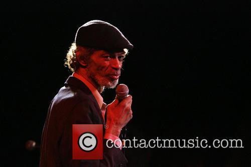 Gil Scott-Heron performs at B.B. King Blues Club...