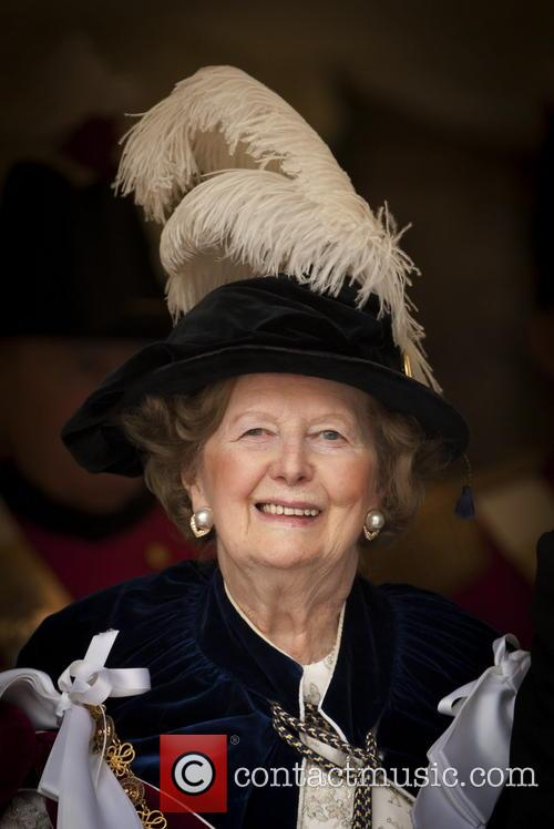 Baroness Margaret Thatcher attends the Order of the...