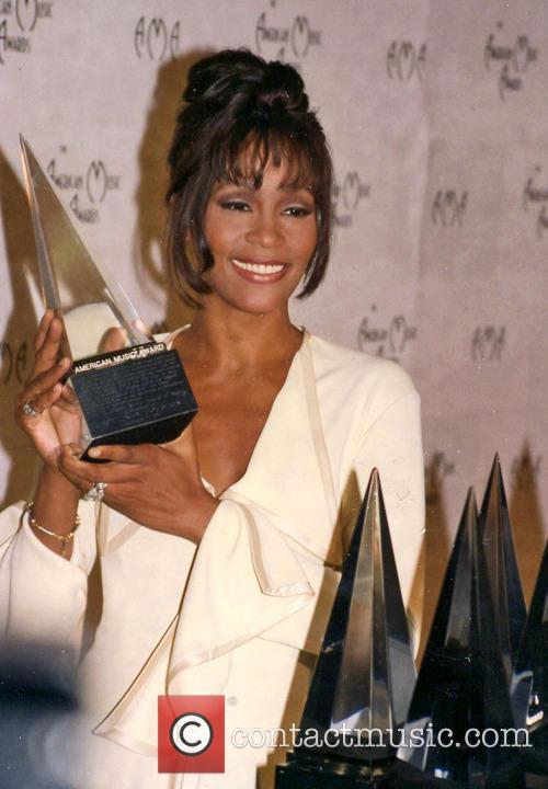 whitney houston american music awards los angeles 5795127