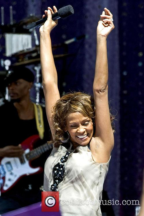 Whitney Houston performing live on 'Good Morning America's...