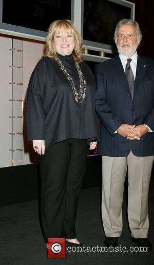 Kathy Bates and Motion Picture Arts and Sciences President Sid Ganis Oscar Nominations 2008 at the Samuel Goldwyn Theater Beverly...