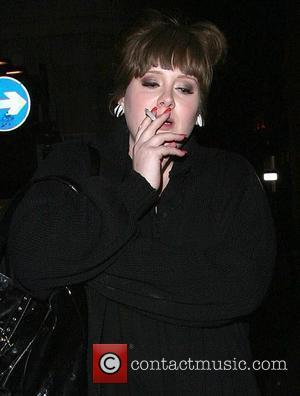 Adele leaving 24 nightclub, smoking a cigarette. London, England - 17.04.08