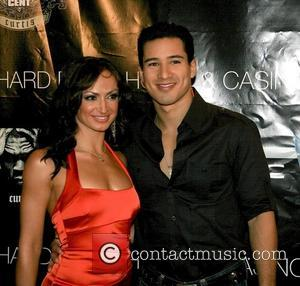 Karina Smirnoff and Mario Lopez on the pre-Video Music Awards (VMA) red carpet celebrating the release of 50 Cent's New...
