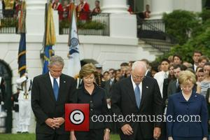 President George W. Bush, Mrs. Laura Bush, Vice President Dick Cheney and Mrs. Lynne Cheney A moment of silence is...