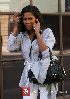 Charley Uchea leaving the BBC Radio One studios after her interview on the Chris Moyles show. Charley was speaking on...