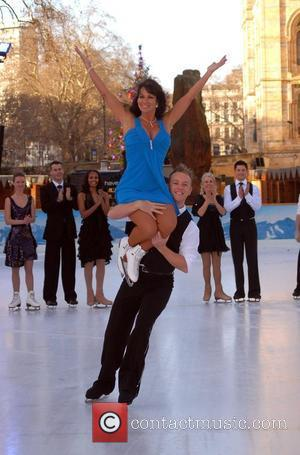 Linda Lusardi 'Dancing On Ice' press launch at the Natural History Museum London, England - 07.01.08