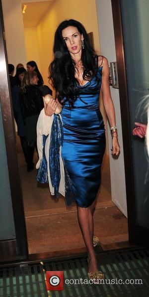 L'Wren Scott attend the launch of the new John Currin exhibition at Sadie Coles HQ gallery in Mayfair London, England...