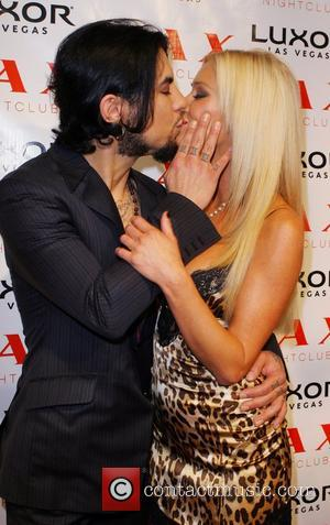 Dave Navarro and girlfriend Britney Spears hosts the grand opening of LAX night club at the Luxor Hotel Casino Las...