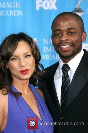 Dule Hill and Wife Nicole Lyn The 39th NAACP Image Awards held at the Shrine Auditorium - Arrivals Los Angeles,...