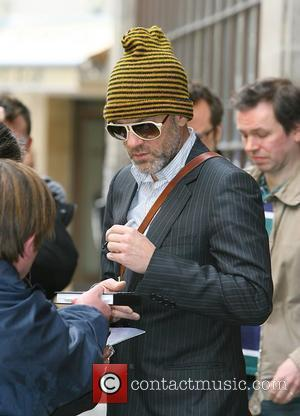 Michael Stipe of REM leaving Radio 1 studios and signing autographs for fans London, England - 26.03.08