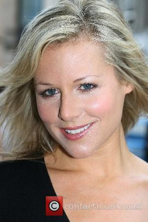 Abi Titmuss arrives at the Edinburgh Television Festival to take part in a debate 'Sex Sells But Do Broadcasters Feel...