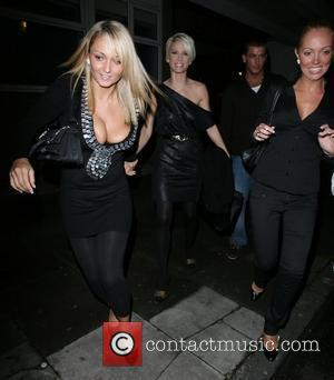 A friend of Sarah Harding and Aisleyne Horgan-Wallace has a wardrobe malfunction, with one of her breasts popping out,...