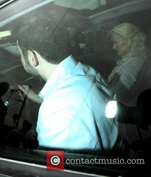 Jordan Bratman and Christina Aguilera leaving from a lunch date  Los Angeles. California - 28.09.07