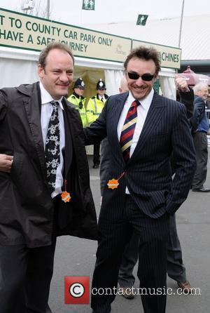 Nick Miles and Matt Healey of Emmerdale attending Lady's Day at the 2008 Aintree Grand National Liverpool, England - 04.04.08