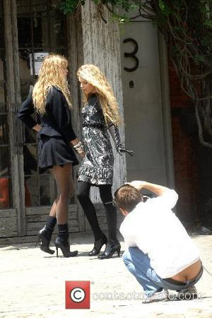 Alexandra Richards and Theodora Richards at a photoshoot in the West Village New York City, USA - 29.06.07