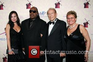 Cassandra Mann, Stevie Wonder, Alfred Mann, Claude Mann The Alfred Mann Foundation Gala held at the Millenium Biltmore Hotel Los...