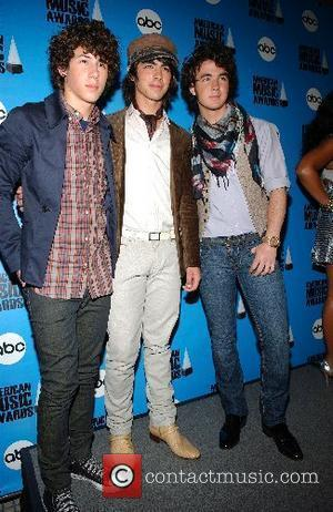 The Jonas Brothers, Nick Jonas, Joe Jonas, and Kevin Jonas The 2007 American Music Awards nominations press conference at the...