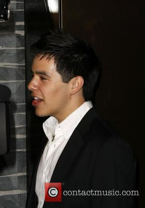 David Archuleta American Idol Finalist singers walking through the Mirage Hotel Casino to the 'Beatles Love by Cirque du Soleil'...