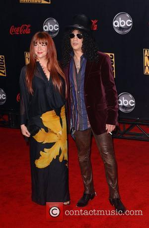 Slash and wife 2007 American Music Awards held at the at the Nokia Theatre - Arrivals Los Angeles, California -...