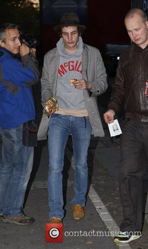 Blake Fielder Civil leaving Tempodrom concert hall with a bag of Haribo German gummy bears  Berlin, Germany - 15.10.07
