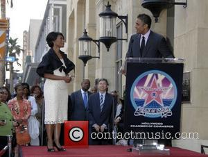 Angela Bassett, Rick Fox, Star On The Hollywood Walk Of Fame and Walk Of Fame