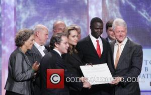 Angelina Jolie and Bill Clinton