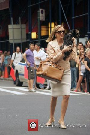 Annette Bening  filming scenes for her new movie 'The Women' New York City, USA - 26.08.07