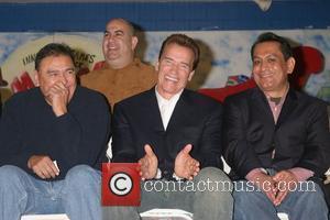 Danny Hernandez and Arnold Schwarzenegger