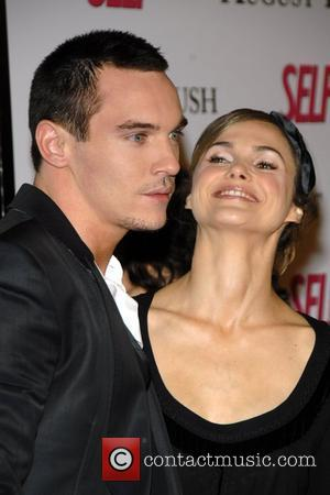 Jonathan Rhys Meyers,Keri Russell at the movie premiere of 'August Rush' held at the Ziegfield Theater New York City, USA...