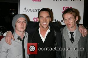 Allen Meyers, Jonathan Rhys Meyers, Jammie Meyers The movie premiere of 'August Rush' held at the Ziegfield Theater New York...