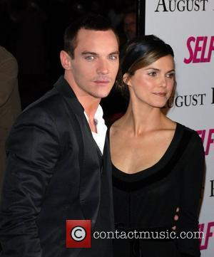 Jonathan Rhys Meyers and Keri Russell Premiere of 'August Rush' held at the Ziegfield Theater - Arrivals New York City,...