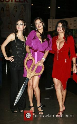 Sasha Grey, Tera Patrick, Teri Weigel  at the opening ceremony of the AVN Adult Entertainment Expo 2008 at The...