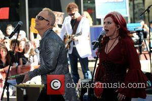 Fred Schneider and Kate Pierson The B-52's perform live for the Today Show's Summer Concert Series at the Rockefeller Plaza...