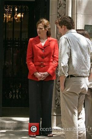 Sigourney Weaver on the film set for 'Baby Mama' New York City, USA - 22.06.07